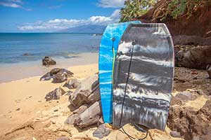 Maui Boogie Boards for rent.