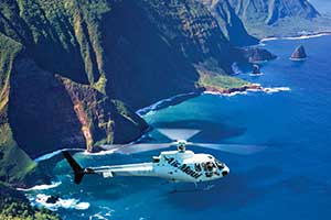 Helicopter tour over Molokai