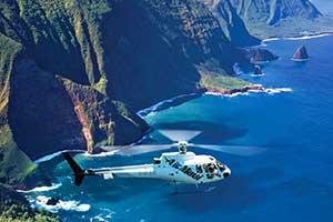 Helicopter tour over Molokai