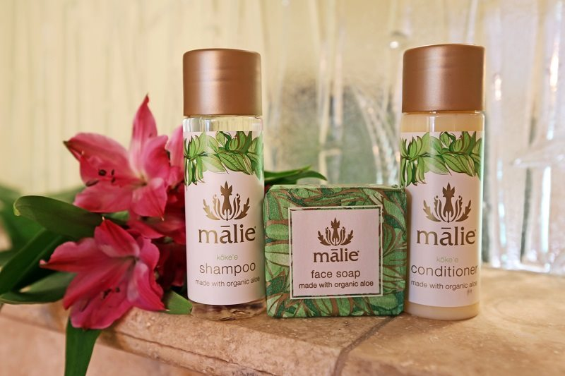 Luxury spa products provided by Coconut Condos for their Maui vacation rental guests