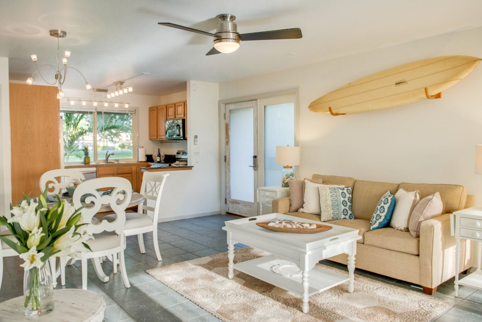 Professionally designed Maui vacation rental condo with beautiful furniture and decor