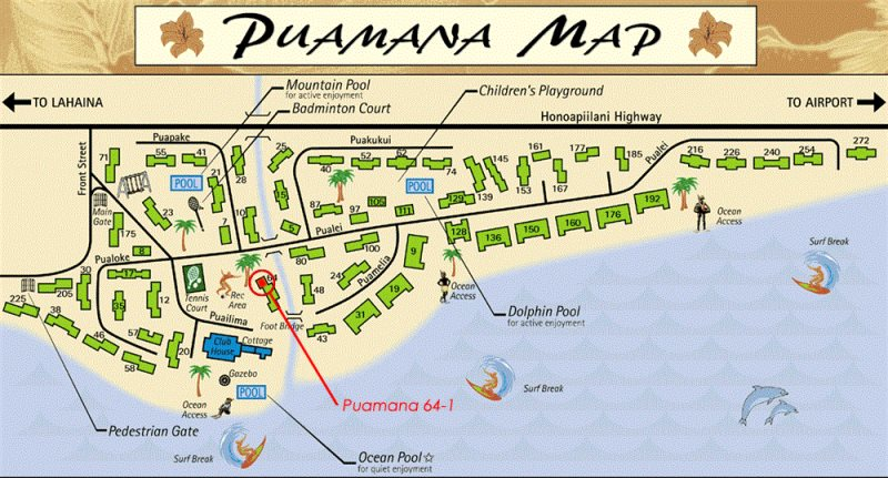 Puamana, Lahaina Community Map