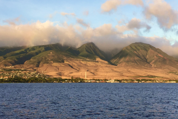 West Maui, Hawaii. West Side Mountains, view from the ocean.